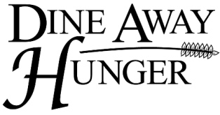 The Dine Away Hunger logo which reminds readers that there is a Dine Away Hunger event coming up.