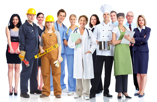 Group of Assorted workers