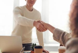 interview handshake